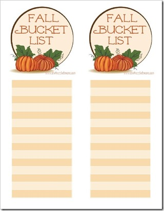 Free Fall Bucket List Printable - The Frazzled Mama